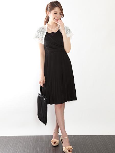 ボレロを合わせて二次会・三次会にも着ていけるお呼ばれドレス