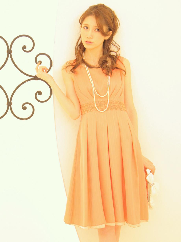 一目置かれる可愛いオレンジカラーお呼ばれドレス