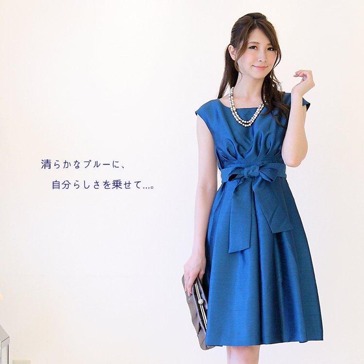 色鮮やかなサファイアブルーの結婚式・披露宴ドレス