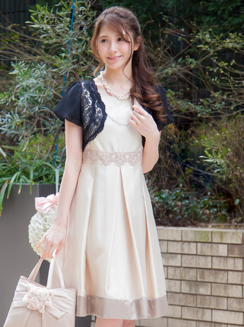 結婚式・二次会に可愛く着ていけるバルーン袖のボレロ
