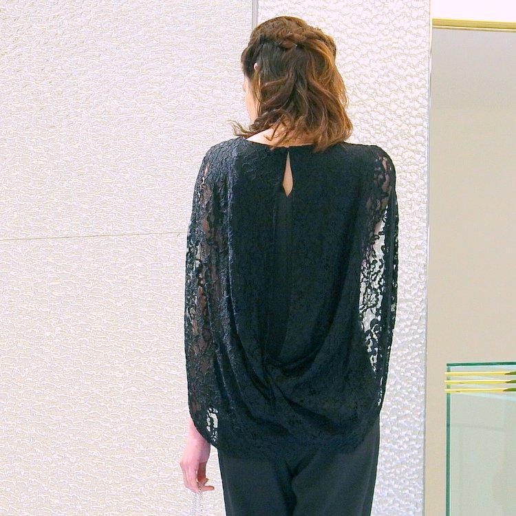 ウエストゴムで着やすいお呼ばれパンツドレス