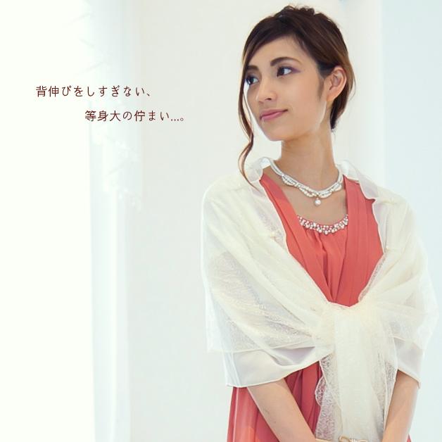 コーラルピンクのカラードレス